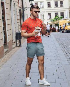 Mens Hottest Fashion, Mens Fashion, Fashion Outfits, Fashion Closet, Cool Outfits, Summer Outfits, Gym Outfits, Summer Swag, Men Looks