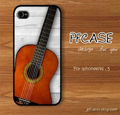 Classic guitar on white wood pattern  Handmade Case for by pfcases, $15.89