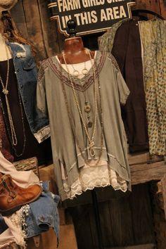 cc9dd24116 Humor Me Vintage Olive Tunic Farm Girl Style, Disney Clothes, Disney Outfits,  Girl