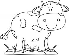 Black and White Cow in the Mud with Flies Clip Art - Black and White Cow in the Mud with Flies Image Black And White Cartoon, Clipart Black And White, Black And White Drawing, Cute Cows, Cute Horses, Images Of Cows, Black And White Google, Black White, Cow Face