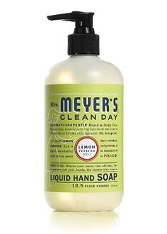 Mrs. Meyer's Clean Day Cleaning Products don't use any harsh chemicals, and they smell amazing. All cleaners should be made like this!