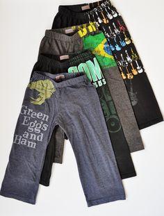 Juste pour l'idée (pas de patrons ni tuto) pantalon legging à partir de tee-shirt --T-shirts into lounge pants.