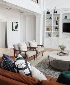 modern neutral living room decor and kitchen design family room