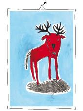 red dear Moose Art, Mixed Media, Illustration, Red, Painting, Animals, Painting Art, Animales, Animaux