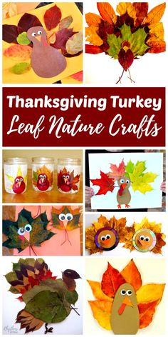 Making Thanksgiving turkey leaf nature crafts is fun for toddlers, preschoolers, and kids of all ages. There are so many leaves on the ground at this time of year, collecting a few to make any one of these turkey nature crafts is a DIY activity the whole