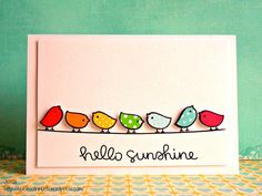 Lawn Fawn - Hello Sunshine, Let's Polka 6x6 paper, Hello Sunshine 6x6 paper _ super sweet CAS card by Jessa via Flickr - Photo Sharing!