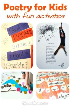 Enjoy poetry for kids with fun activities! We have poetry activities for toddlers, preschool kids, to school age kids.