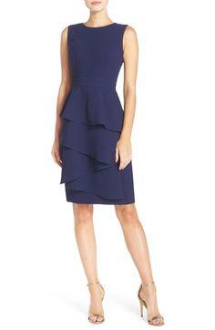 Eliza J  Ella  Cascade Crepe Sheath Dress Nordstrom Dresses 16031507cfb2