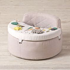 Shop Busy Baby Activity Chair.  Babies live pretty busy lives, so we designed an activity chair to match.  This exclusively designed chair has plenty to keep your little one busy, including a mirror, rattle, squeaky toy and more.