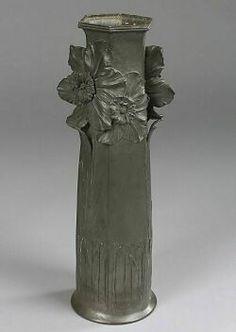 Orivit Pewter Art Nouveau Vase, Germany, c. 1905