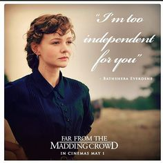 Bathsheba everdene, far from the madding crowd 2015 - I love Carey Mulligan.so beautiful and sweet! Far From Madding Crowd, Troy, Carey Mulligan, Beautiful Disaster, Movie Quotes, Book Quotes, Music Tv, Period Dramas, I Movie
