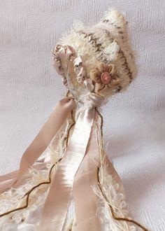 Mocha Pixie Bonnet, Newborn Photo Prop, Unique Hat. $23.00, via Etsy.