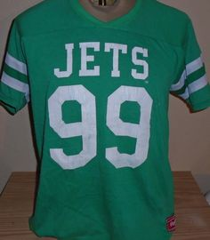 Vintage 1980s New York Jets Mark Gastineau Rawlings t shirt Jersey Large a6284a04a