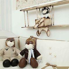 #mulpix Coleção Aviador, quadros, kit berço e cama!!! Informações 3624-3888 #kitberco #enxoval #decoração #aviador #avião