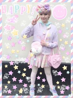 """fairy-frills: """" Outfit from fairy kei meet yesterday! """""""