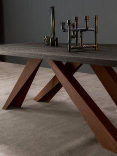 corten steel version, rough architectural inspirations. Big Table for Bonaldo Design icon