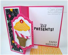 Crafty and Creative Ideas: Party Wishes Card - DSC#168