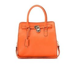 Michael Kors Braided Large Orange Totes Outlet Discounts $80.11 Sale.