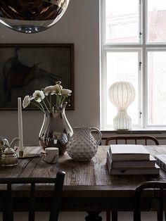 Creative Living Since Gothenburg, Sweden Nordic Interior Design, Interior Styling, Dining Room Inspiration, Interior Inspiration, Color Inspiration, Eclectic Furniture, Home Fashion, Beautiful Interiors, Kitchen Interior