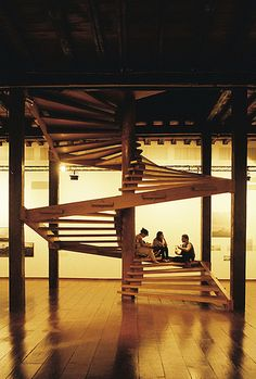 lina bo bardi Stairs Architecture, Interior Architecture, Zaha Hadid, Landscape Stairs, African House, Small Tiny House, Wood Stairs, Interior Stairs, Stairway To Heaven