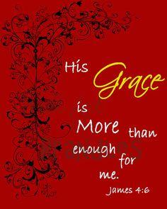 Grace is Enough Art - Scripture Art - Christian Art