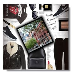 """Seattle Summer Travel Outfits - Contest!"" by sarahguo ❤ liked on Polyvore featuring Marc Jacobs, River Island, La Perla, Balenciaga, NIKE, Yves Saint Laurent, Bobbi Brown Cosmetics, Avon, seattle and outfitsfortravel"