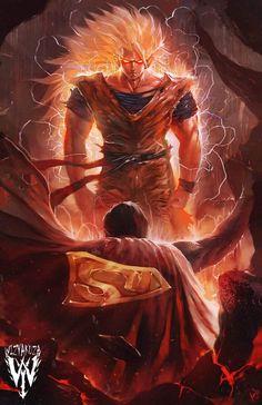 Goku vs Superman by Ceasar Ian Muyuela