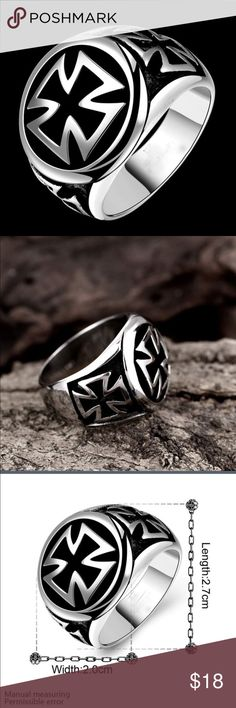 Men's  Cross Fashion Ring NWT This ring is so nice. It has weight to it. Never worn. No box. Accessories Jewelry