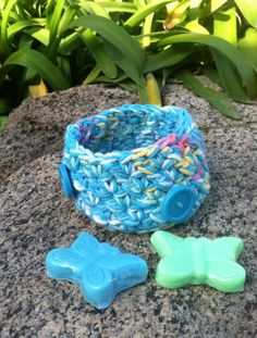 Nesting Bowls Crochet bowls Storage Individual Bowl by GrammaLeas