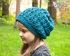 Squid Dance Slouch by KT and the Squid Free crochet hat pattern worked in Spud & Chloe Sweater