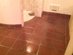 Tecate Paver Bathroom with custom shower tiles and a High Gloss shine.  http://www.californiatilerestoration.com/services/efflorescence-removal-tile-water-damage/