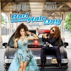 """""""WOO HOO, here is the #BadHairDay poster – can't wait for the premiere on February 13 at 8 pm ET/PT on Disney Channel. @l_a_baker_13"""""""