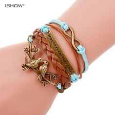 Leather bracelet animal jewelry paracord bracelet where there is a will there is a way Charm bracelet for woman pulseras mujer