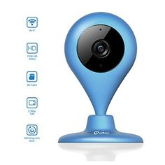 Wireless Security Camera, MiSafes WiFi Baby Pet Video Monitors 1280x720p HD Remote Home Surveillance Indoor IP Cameras with 2 Way Audio Talk for iPhone iPad Android Samsung Sony LG (Blue) - $99.99