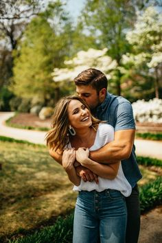 DJ & Emily — Christina & Jeremiah DJ & Emily — Christina & Jeremiah Spring in the South Engagement Humor, Engagement Photo Outfits, Engagement Photo Inspiration, Engagement Couple, Outdoor Engagement Photos, Fall Engagement, Engagement Photo Shoot Poses, Casual Engagement Outfit, Outdoor Engagement Pictures