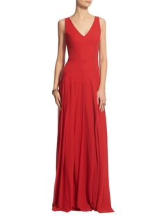 Silk Georgette Gown