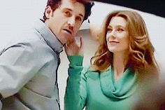 Greys Anatomy Derek, Greys Anatomy Couples, Greys Anatomy Facts, Grays Anatomy, Ellen Pompeo Patrick Dempsey, Meredith E Derek, Grey's Anatomy Tv Show, Drama Tv Shows, Grey Quotes