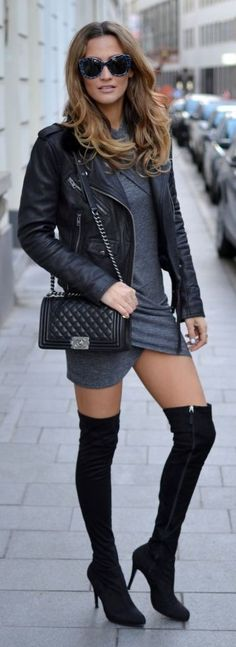 Black And Grey Streetstyle