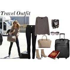 Travel Outfit by rusty888 on Polyvore featuring River Island, L'Autre Chose, Burberry and MICHAEL Michael Kors