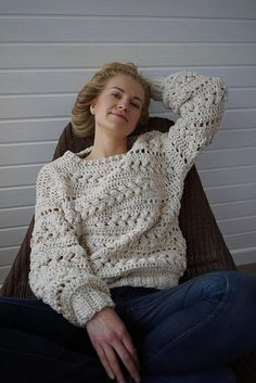 Sensum Sweater Pattern This listing is for crochet pattern PDF file - not an actual item. **Instant download file** Steal the night with the cozy Sensum Sweater! Beautiful puff stitch braids align in breath taking short rows. The pattern is written in English using US crochet terms.