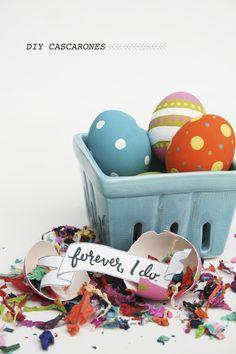 DIY Easter Cascarones http://ruffledblog.com/diy-easter-cascarones #diyproject #easterdiy