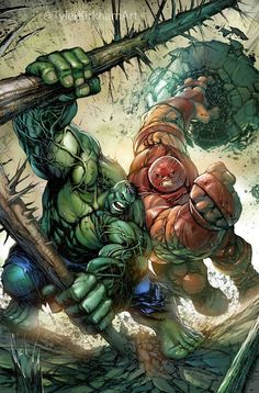 Hulk vs Juggernaut by Tyler Kirkham