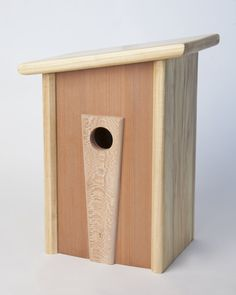 Modern Birdhouse, Poplar, Repurposed Redwood and Quarter Sawn Sycamore - by 2ol2rac @ LumberJocks.com ~ woodworking community