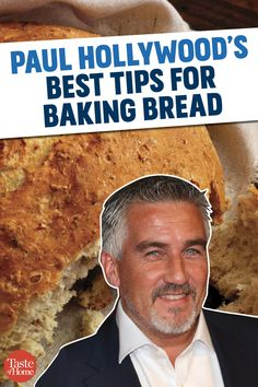 Paul Hollywood is the blue-eyed judge on the 'Great British Baking Show' and a master bread baker. Here's his advice for beautiful loaves of bread at home! British Baking Show Recipes, British Bake Off Recipes, Great British Bake Off, Best Pastry Recipe, Pastry Recipes, Artisan Bread Recipes, Bread Machine Recipes, Baking Tips, Bread Baking