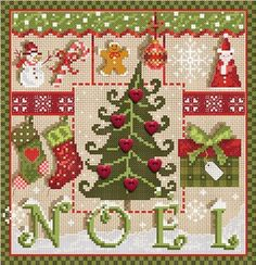 french cross stitch pattern buttons : Petits Coeurs de Noel Little Christmas Hearts Madame La Fee counted cross stitch patterndiy. $18.00, via Etsy.