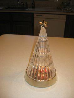 Avon's Crystal Light up Christmas Tree Vintage