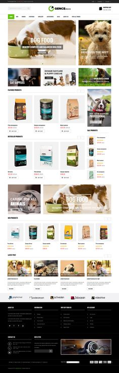 Ogence responsive Magento theme is especially designed for digital, electronics, accessories, #pets, pet food #stores. Elegant design, sleek and clean block layout, handy features and extensions,e makes this #Magento Theme best form the other #eCommerce sites.