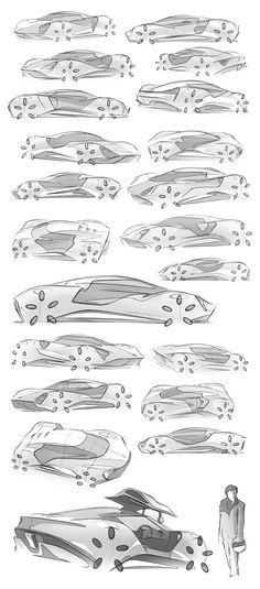 Sketch project, designing a mid-engined super car. The aim was explore a simple but dramatic design, of organic shapes and minimal ornamentation, and also a design free of a 'brand', just pure form!