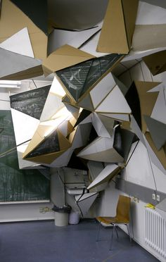 sculptural installation at Beuth University Berlin, 2011 by Clemens Behr (Germany)