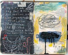 Journal illustrations from shoulda-woulda-coulda Artist Journal, Artist Sketchbook, Art Journal Pages, Art Journals, Visual Journals, Journal List, Moleskine, Collages, Gravure Illustration